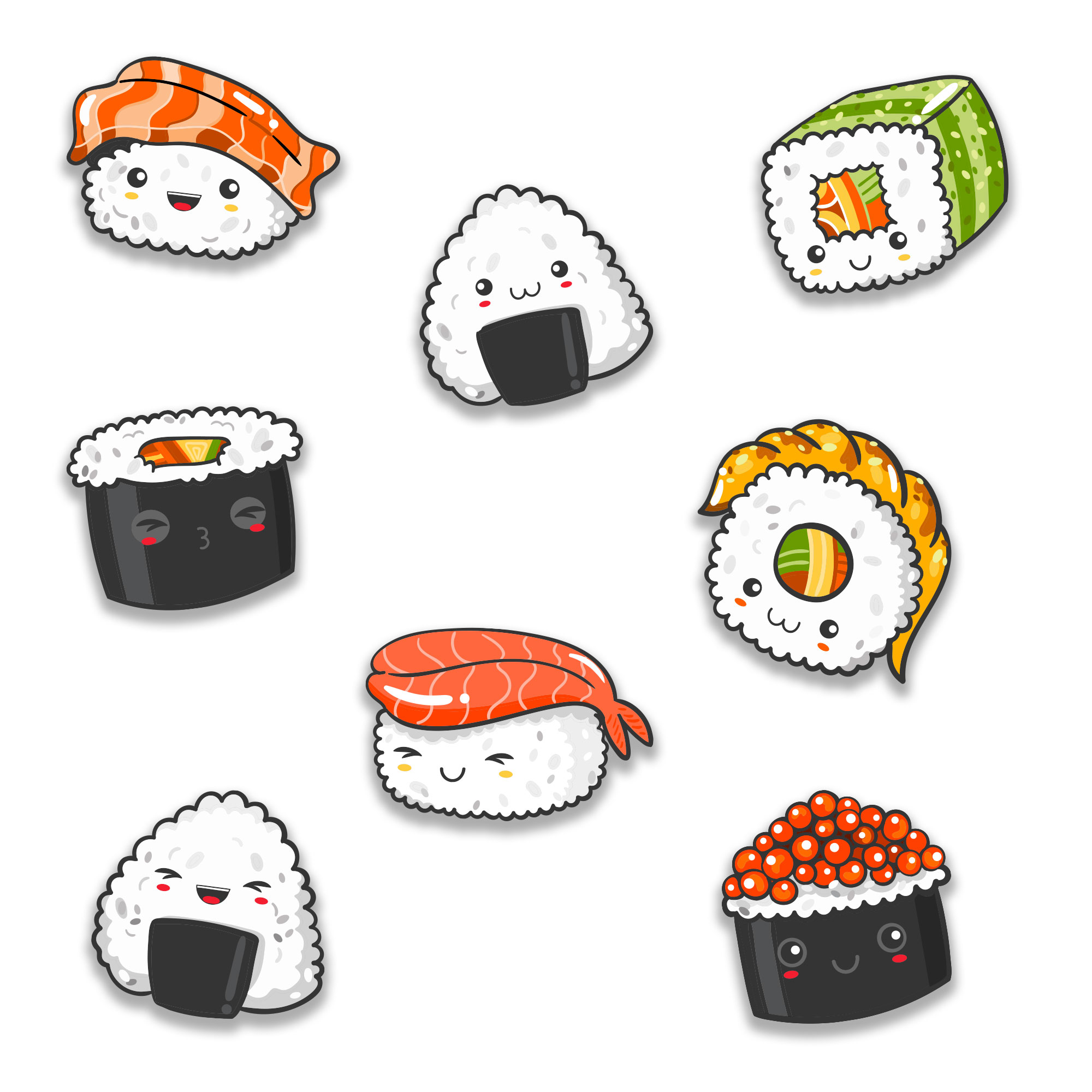 stickers sushis